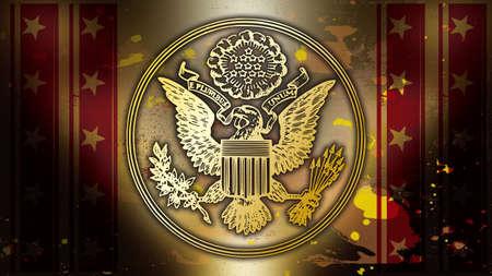 アメリカの愛国心が強い記号金の歴史 写真素材