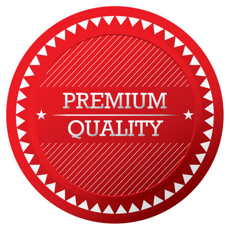 quality guarantee: Premium and High Quality and Guarantee Labels design Illustration