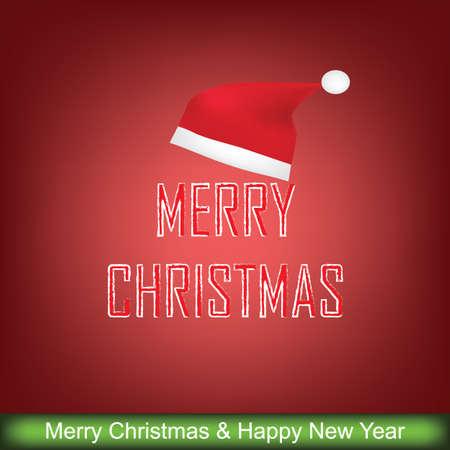 Carte de voeux de Noël, illustration vectorielle Vecteurs