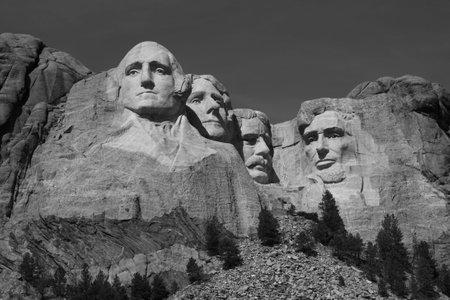 'mt rushmore': Mt. Rushmore in Black and White