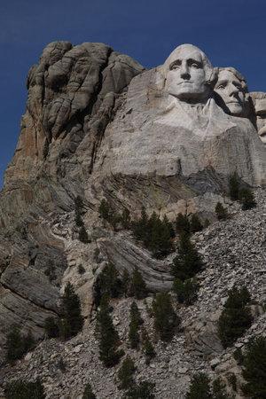'mt rushmore': Mt. Rushmore - Washington and Jefferson side