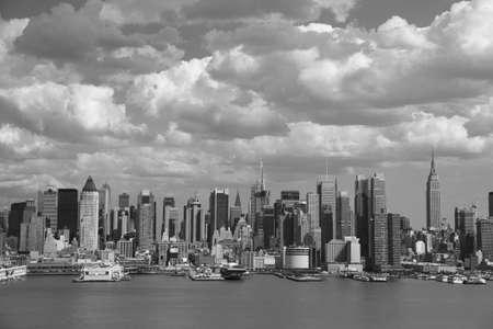 New York City Skyline - Black and White Stock Photo - 4970557