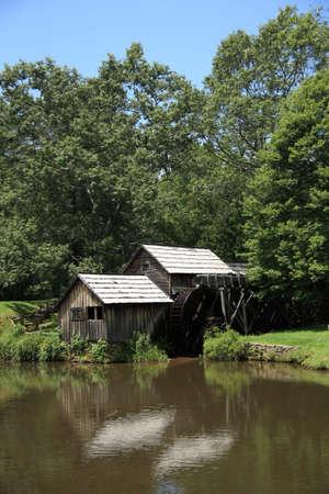 parkway: Blue Ridge Parkway - Mabry Mill Stock Photo