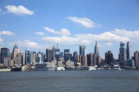 hudson river: New York City Skyline