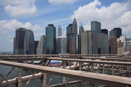 New York City Skyline - lower Manhattan as seen from the Brooklyn Bridge Stock Photo - 5340107