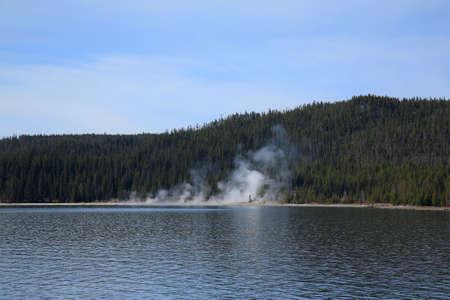 Yellowstone Lake and Geysers photo