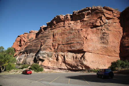 rock formation: Wyoming Scenery - Red Rock Formation Editorial