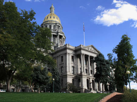 colfax: Colorado State Capitol Building in Denver Stock Photo