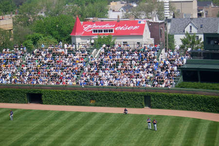CHICAGO - MAY 27, 2006: Cubs fans await a spring contest in Wrigley Fields famous bleachers.