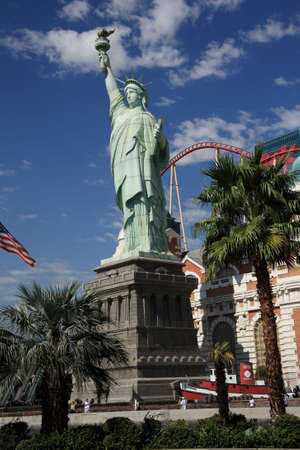 Las Vegas, Nevada - September 18,2008: New York New York Hotel facade depicting the Statue of Liberty Stock Photo - 6889008