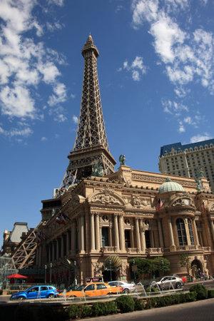 Las Vegas, Nevada - September 18,2008: Paris Hotel on the Strip, featuring the Eiffel Tower