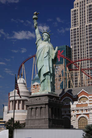 Las Vegas, Nevada - September 18, 2008: Statue of Liberty featured at the New York Hotel on the famous Las Vegas Strip