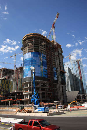 Las Vegas, Nevada - September 18, 2008: Ongoing construction on the famous Strip in the Nevada resort town Stock Photo - 6897552