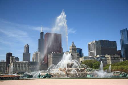 Chicago Skyline en fontein