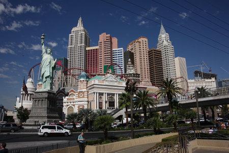 Las Vegas, Nevada - 18 september 2008: Manhattan skyline featured in het New York Hotel op de beroemde Las Vegas Strip