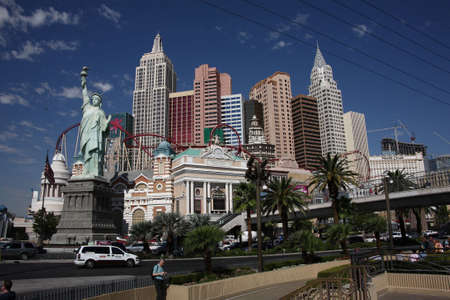 Las Vegas, Nevada - September 18, 2008: Manhattan skyline featured at the New York Hotel on the famous Las Vegas Strip