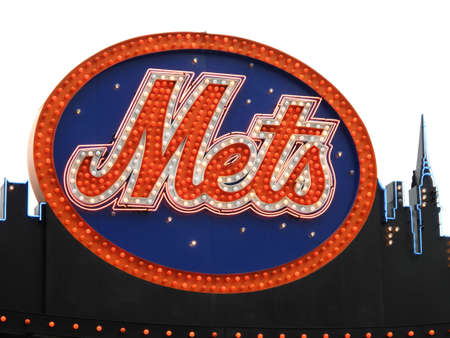 New York - May 26, 2009: Classic New York Mets logo carried over to Citi Field from Shea Stadium