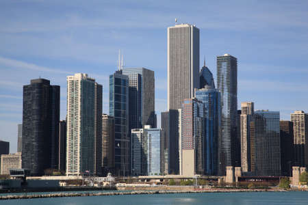 midwest usa: Chicago Skyline Stock Photo