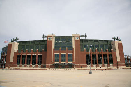 Green Bay, Wisconsin - 23 april 2010: Historic Lambeau Field in Wisconsin. De Packers NFL stadion wordt soms aangeduid als de bevroren toendra