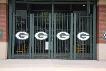 wisconsin: Green Bay, Wisconsin - April 23, 2010: Entrance to historic Lambeau Field in Wisconsin. The Packers NFL stadium is sometimes referred to as the Frozen Tundra