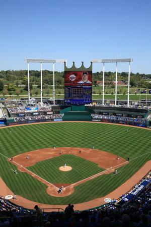 royals: Kansas City, Missouri - September 27, 2009: Kansas City Royals battle the Minnesota Twins at Kauffman Stadium