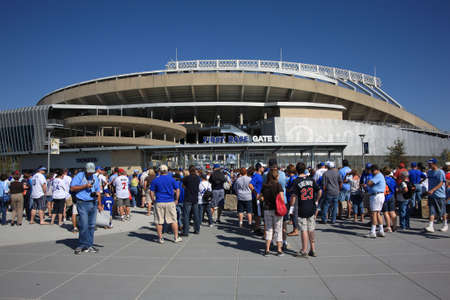 royals: Kansas City, Missouri - September 27, 2009: Fans line up for a late dseason game at Kauffman Stadium, home of the Kansas City Royals