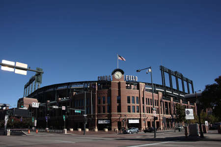mile high city: Denver, Colorado - September 30, 2009: Coors Field, downtown home of the Colorado Rockies