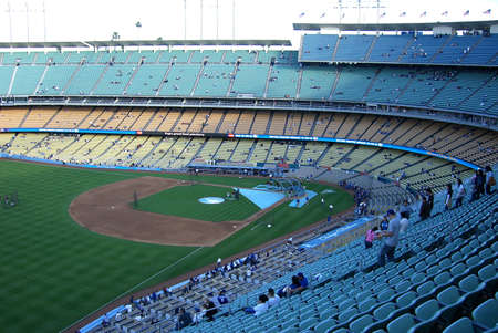 dodgers: Los Angeles, California - April 25, 2007: Dodger Stadium, home of the LA Dodgers, during batting practice
