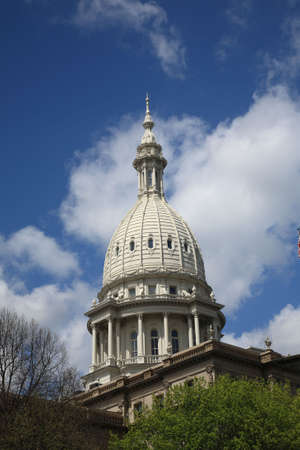 Michigan Capitol Building Dome Stock Photo