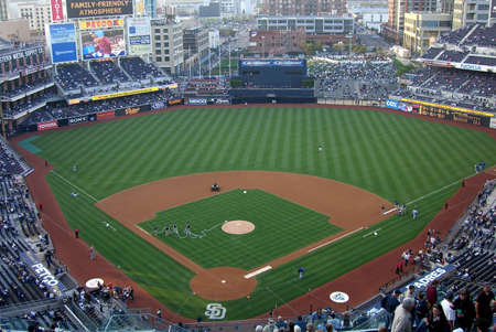 San Diego, California - April 27, 2007: Petco Field, downtown city stadium of the Padres on Trevor Hoffman Night