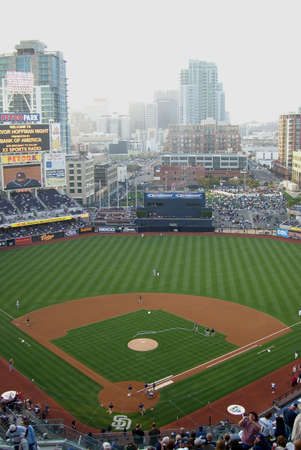 San Diego, California - April 27, 2007: Petco Park, downtown city stadium of the Padres on Trevor Hoffman Night