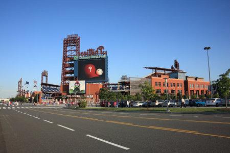 Philadelphia, Pennsylvania - September 01, 2009: Citizens Bank Park, the Phillies concrete and old fashioned brick ballpark in South Philadelphia