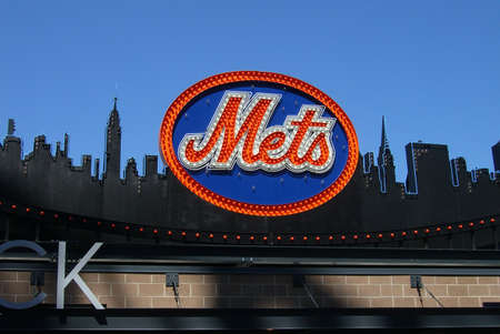 New York - April 05, 2009: Classic New York Mets logo carried over to Citi Field from Shea Stadium