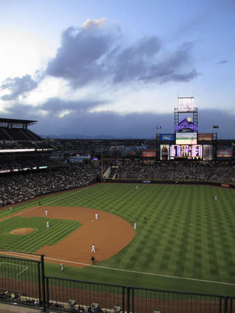 colorado: Denver, Colorado - September 30, 2009: Coors Field, home of the Rockies, before a game aginst the Milwaukee Brewers