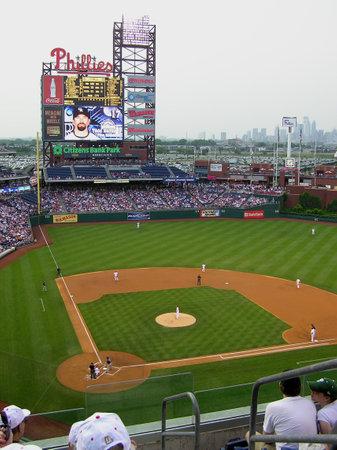Filadelfia - el 27 de mayo de 2008: Citizen Bank Park, hogar de los Phillies, durante un juego contra los Rockies de Colorado  Foto de archivo - 7148347