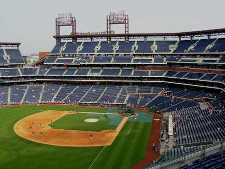 Philadelphia, Pennsylvania - May 27, 2008: Citizen Bank Park, home of the Phillies, during batting practice
