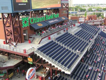 Philadelphia, Pennsylvania - May 27, 2008: The Phillies Scoreboard Porch at Citizens Bank Park,