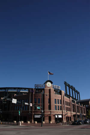 Denver, Colorado - September 30, 2009: Coors Field, the downtown home of the Colorado Rockies