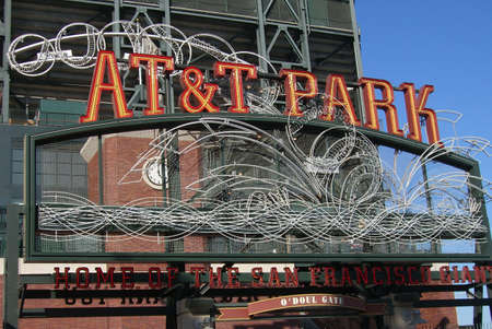 ballpark: San Francisco, California - September 20, 2007: Closeup of ODoul gate at AT&T Park, the Giants home ballpark.