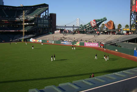 San Francisco, California - September 20, 2007: Batting practice at AT&T Park, home of the Giants