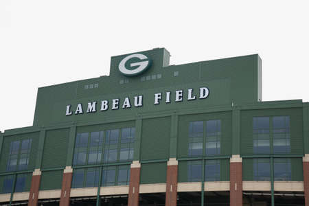 gridiron: Green Bay, Wisconsin - April 23, 2010: Historic Lambeau Field in Wisconsin. The Packers NFL stadium is sometimes referred to as the Frozen Tundra