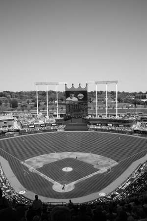 royals: Kansas City, Missouri - September 27, 2009: Kansas City Royals battle the Minnesota Twins at Kauffman Stadium Editorial