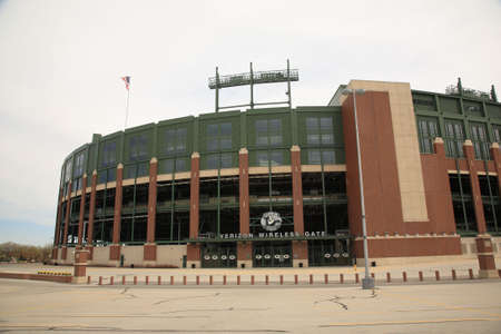 Green Bay, Wisconsin - April 23, 2010: Historic Lambeau Field in Wisconsin. The Packers NFL stadium is sometimes referred to as the Frozen Tundra