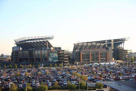 Philadelphia, 7 september 2010: Lincoln financiële Field, de thuis van de NFL Eagles, gelegen in het Zuid Philly Sport complex.