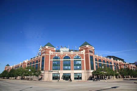 Arlington, Texas, September 28, 2010: Texas Rangers Ballpark in Arlington, a baseball only facility opened, in 1994 with old fashined brick architecture.