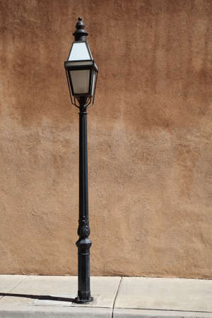 Adobe Wall and Streetlight photo