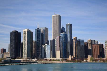 windy city: Chicago Skyline - Windy City en la orilla del lago Michigan