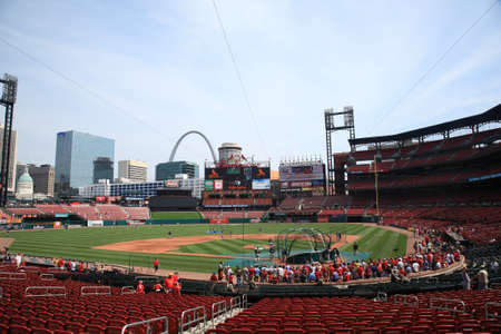 St. Louis, September 18, 2010: Fans gather for a late season Cardinals game at Busch Stadium.