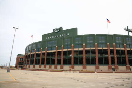Green Bay, Wisconsin - April 23, 2010: Historic Lambeau Field in Wisconsin. The Packers NFL stadium is sometimes referred to as the