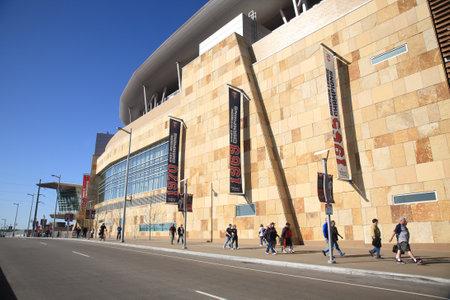 ballpark: Minneapolis, 21 de abril de 2010: Campo de destino, nuevo estadio de los mellizos de Minnesota devuelve al aire libre de b�isbol a las ciudades gemelas. Editorial
